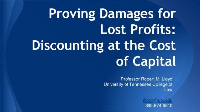 Lost profits -discount rate-- part 2