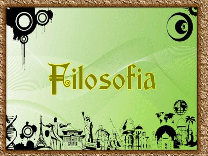 FILOSOFIA OCCIDENTAL CLASICA