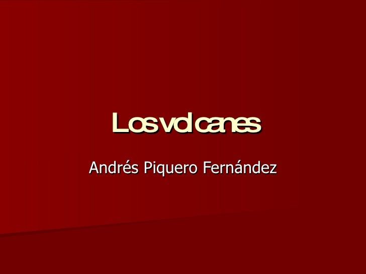 Los Volcanes Andres