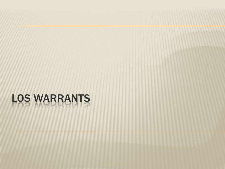 Los warrants