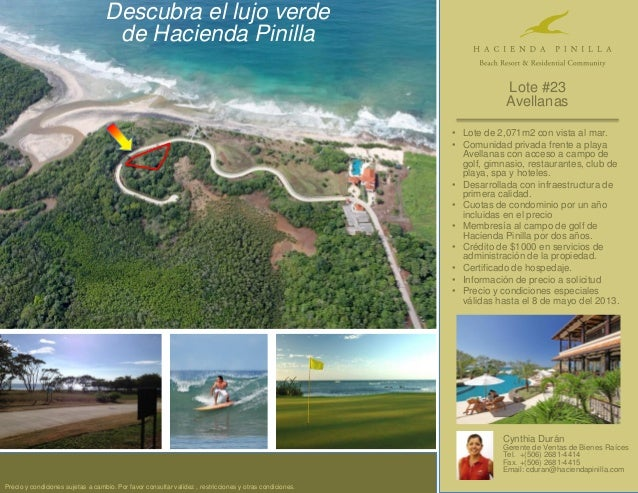 • Lote de 2,071m2 con vista al mar.• Comunidad privada frente a playaAvellanas con acceso a campo degolf, gimnasio, restau...