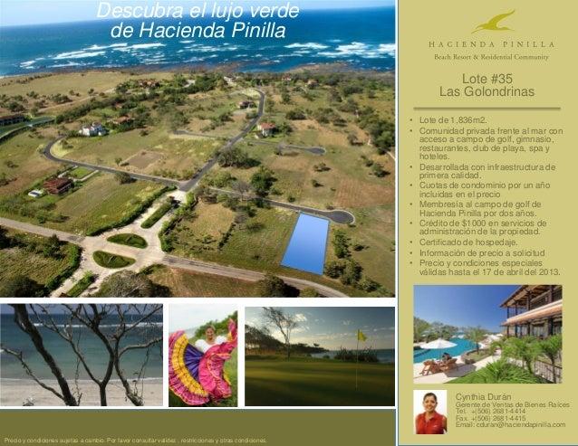 Descubra el lujo verde                                    de Hacienda vida,                                     Calidad de...