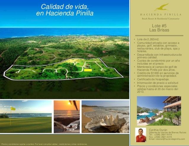 Calidad de vida,                                         en Hacienda Pinilla                                              ...