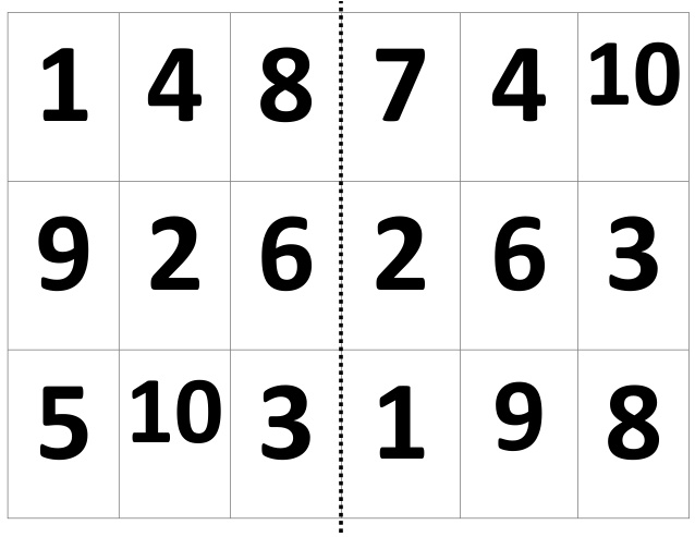 loteria de numeros) preescolar - Imagui