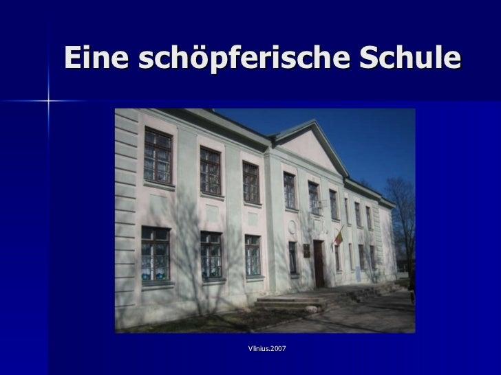 Eine sch ö pferische Schule