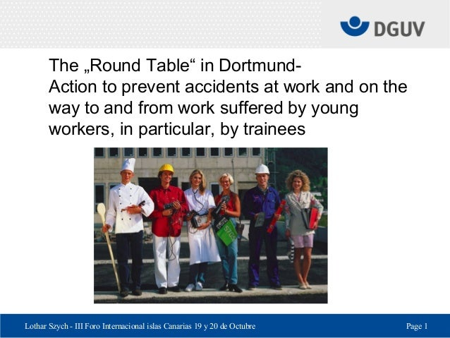 "Lothar Szych - III Foro Internacional islas Canarias 19 y 20 de Octubre Page 1 The ""Round Table"" in Dortmund- Action to pr..."