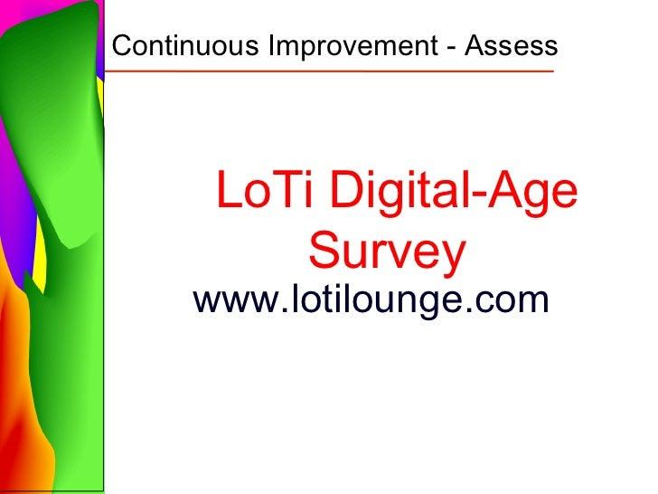 LoTi survey