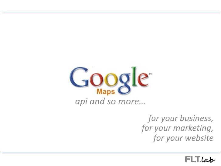 Google Maps for your business