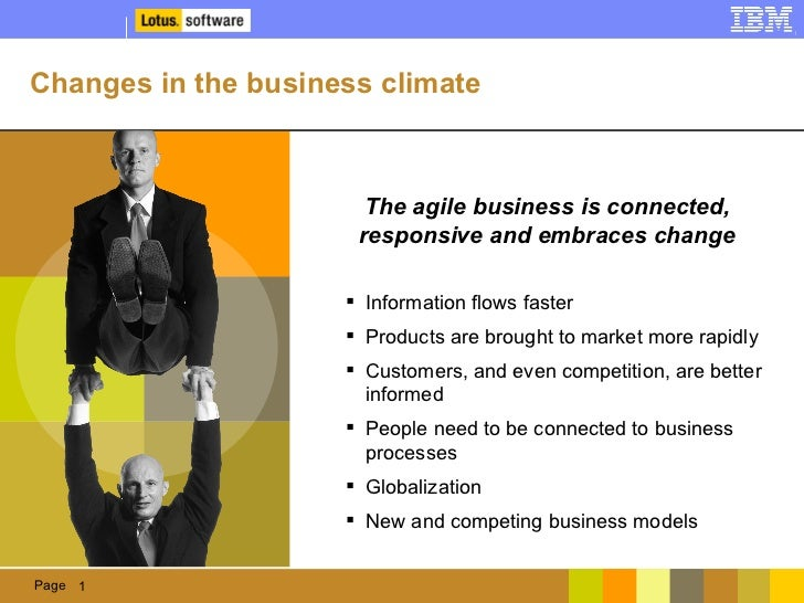 Changes in the business climate <ul><li>Information flows faster </li></ul><ul><li>Products are brought to market more rap...