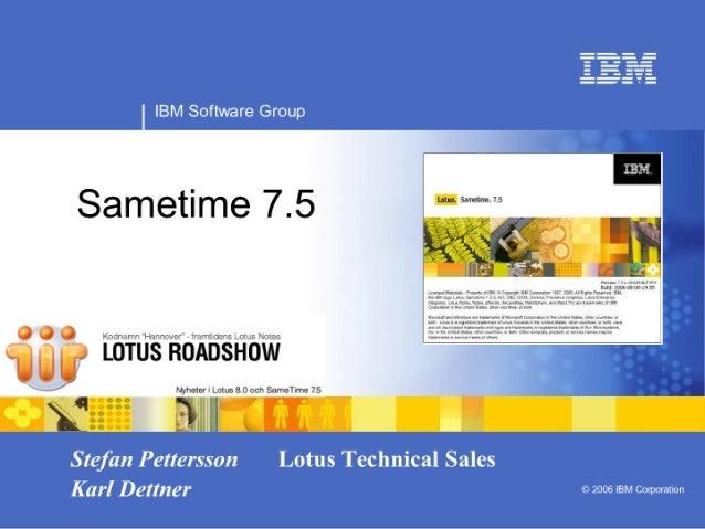Lotus Sverige Roadshow 2006 - Sametime