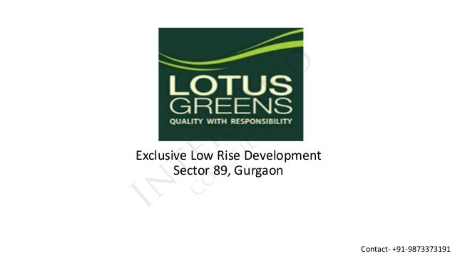 Exclusive Low Rise Development Sector 89, Gurgaon  Contact- +91-9873373191