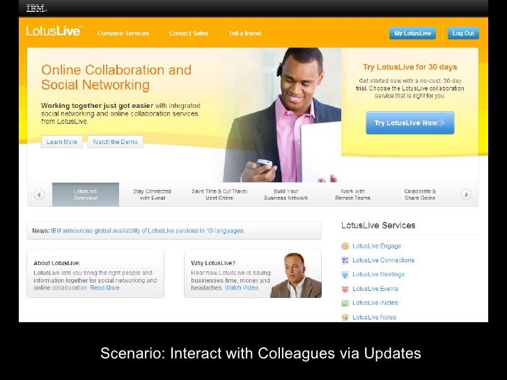IBM SaaS Interact With Colleague Via Updates   Files