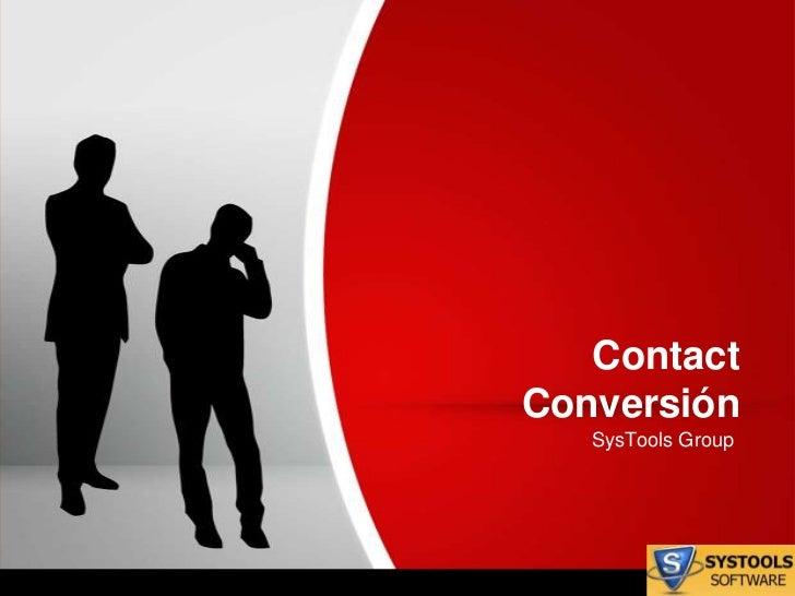 ContactConversión   SysTools Group
