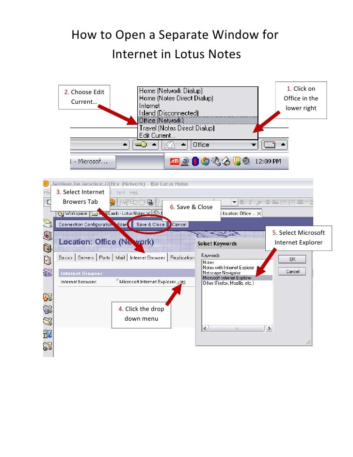 How to Open a Separate Window for            Internet in Lotus Notes                                                      ...