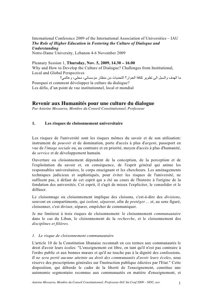 International Conference 2009 of the International Association of Universities – IAUThe Role of Higher Education in Foster...