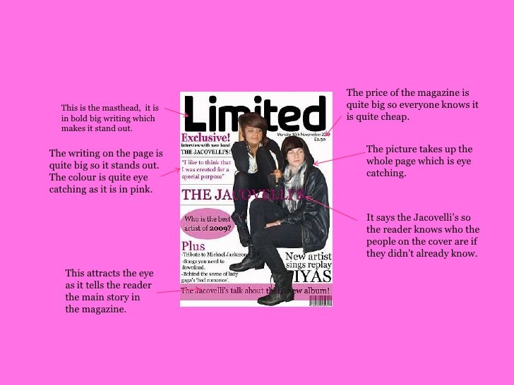 The price of the magazine is quite big so everyone knows it is quite cheap.<br />This is the masthead,  it is in bold big ...