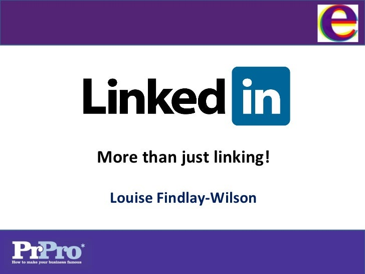 More than just linking! Louise Findlay-Wilson