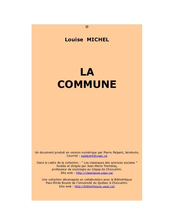 [Louise michel]   la commune