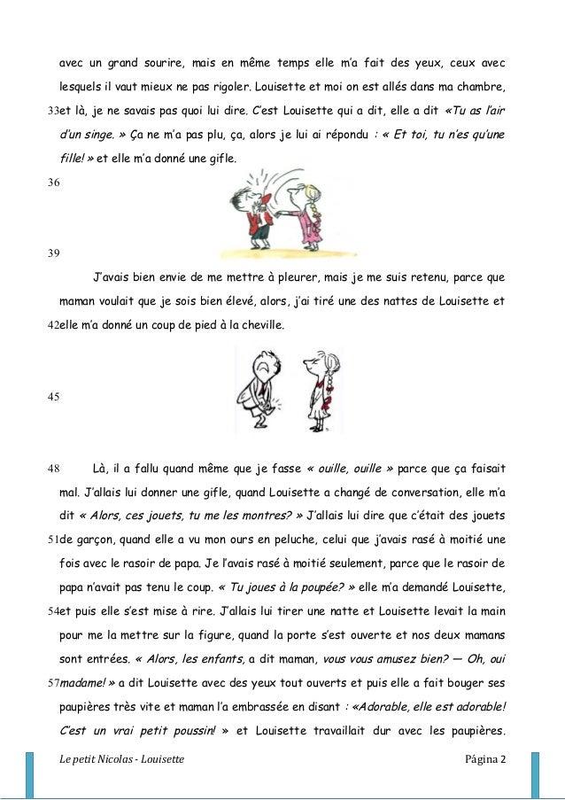 Louisette chapitre 10 du livre le petit nicolas - La chambre des officiers resume complet du livre ...
