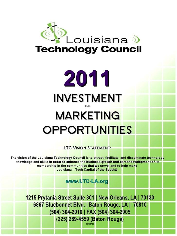 Louisiana Technology Council Membership Presentation 2010 0111
