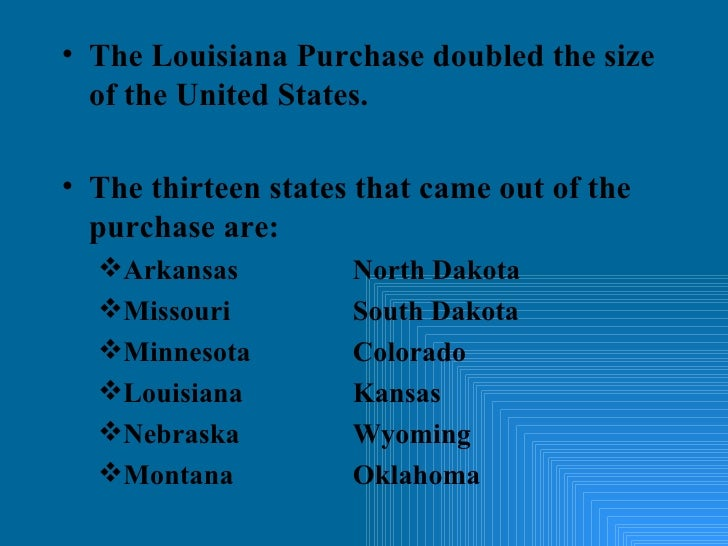 louisiana purchase essay questions The louisiana purchase of 1803 brought into the united states about 828,000,000 square miles of territory from france, thereby doubling the size of the young republic the treaty was dated april 30 and signed on may 2.