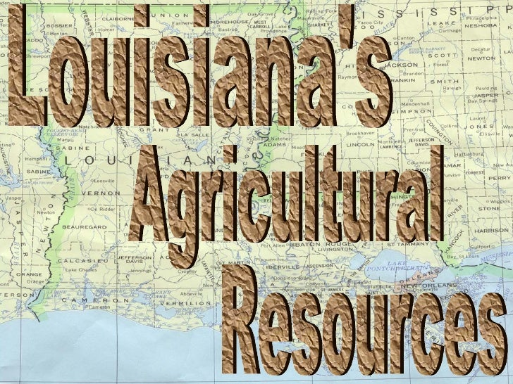 Louisiana's  Resources Agricultural
