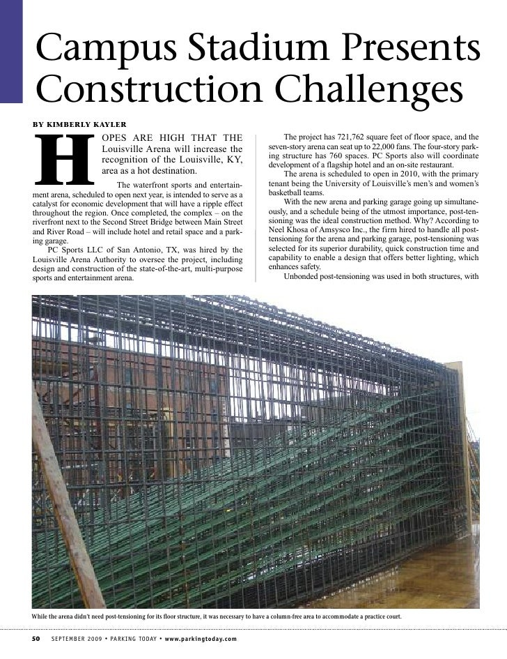 Campus Stadium Presents  Construction Challenges BY KIMBERLY KAYLER     H                            OPES ARE HIGH THAT TH...