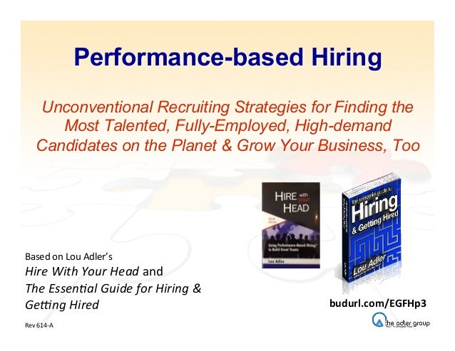 Performance-based Hiring Unconventional Recruiting Strategies for Finding the Most Talented, Fully-Employed, High-demand C...