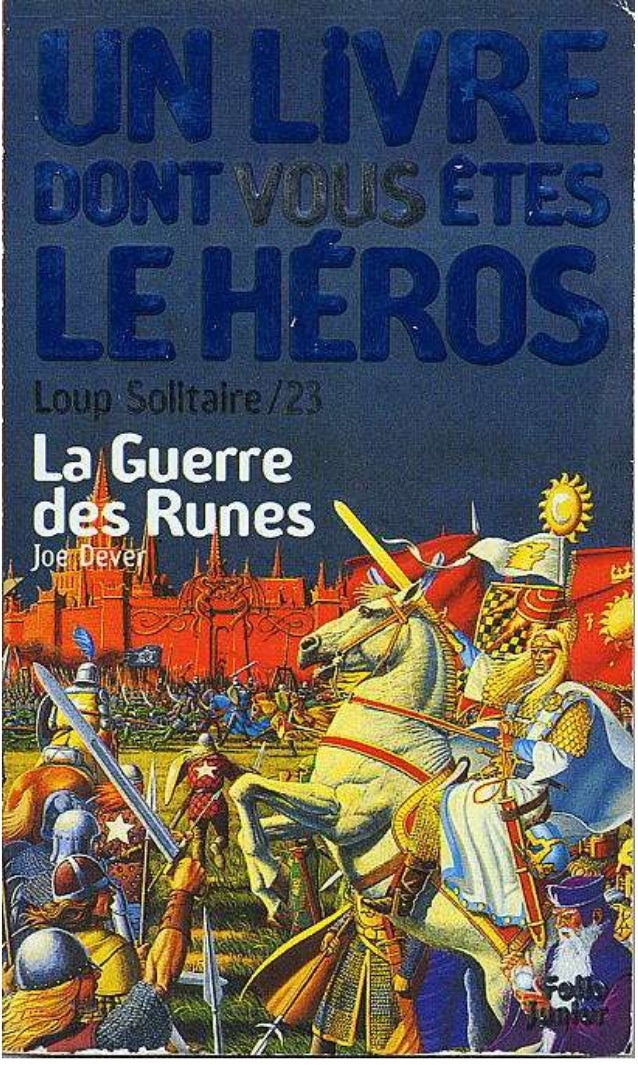 Titre original : Rune War © Joe Dever, 1995, pour le texte © Editions Gallimard, 1996, pour la traduction