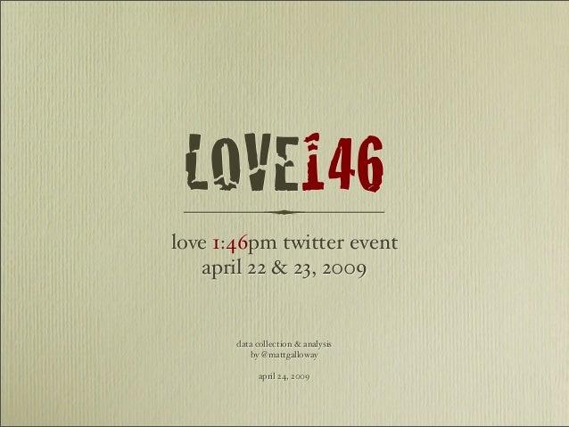 Love 1:46pm twitter event april 22 & 23, 2009