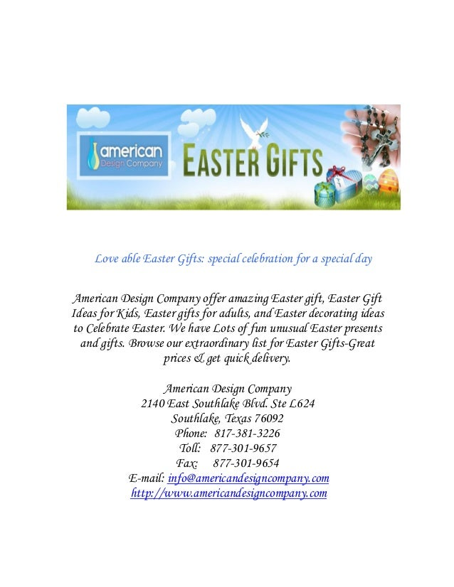 Love able easter gifts special celebration for special day