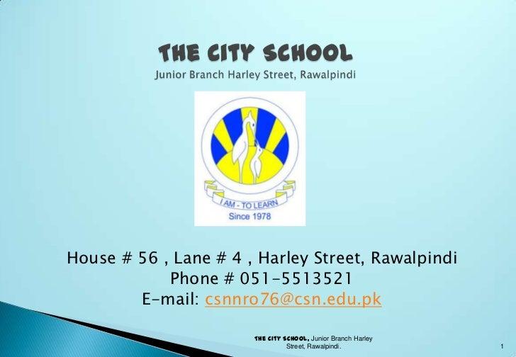 City School Harley Street, Rawalpindi