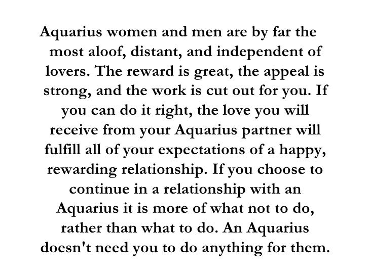 tips dating aquarius woman Dating an aquarius woman: useful advice if a woman of this sign falls in love, be sure - she will be devoted to her feelings as long as she feels absolutely free and unrestricted.