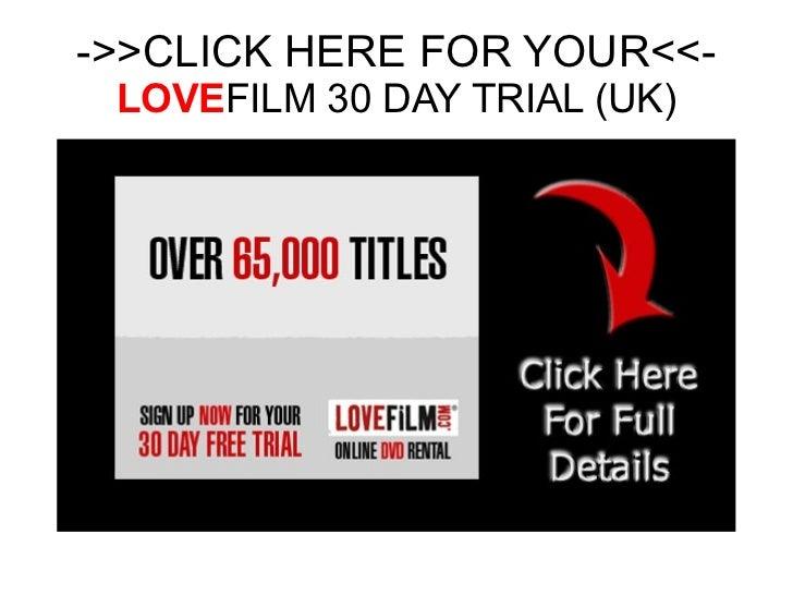 Lovefilm trial