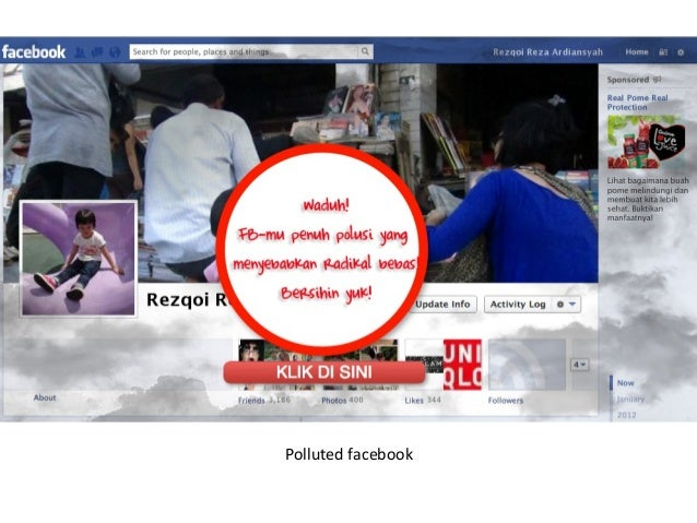 Polluted facebook