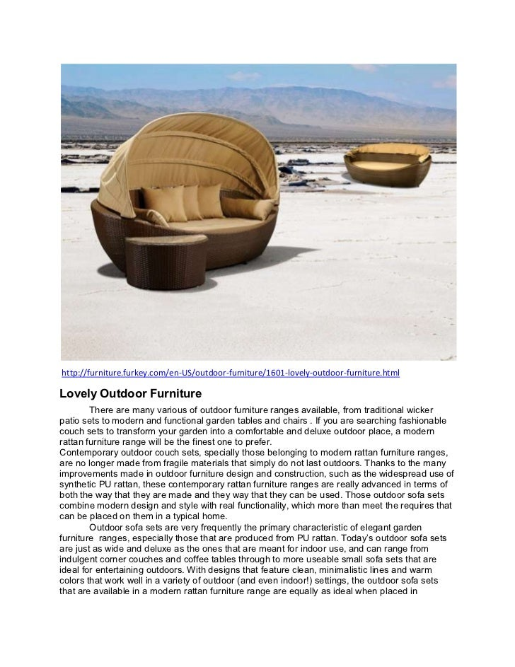 Lovely outdoor furniture