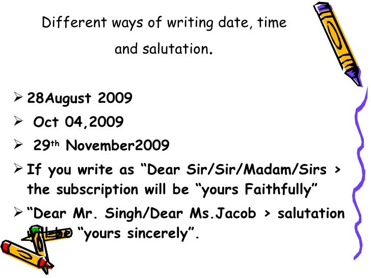 Proper way to write a date