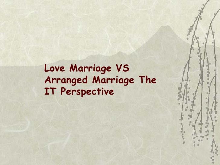 arranged vs love marriage essay