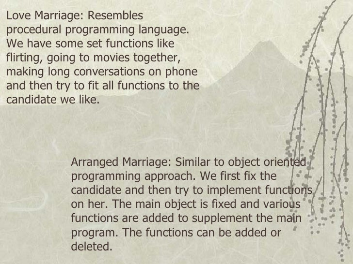 essay love marriage arranged marriage Debate: arranged marriage from  will government officials go door to door and have a clear way of measuring if there is love in an arranged marriage love is a.