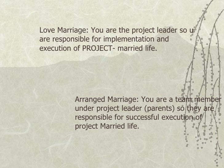 Love arranged marriages essay