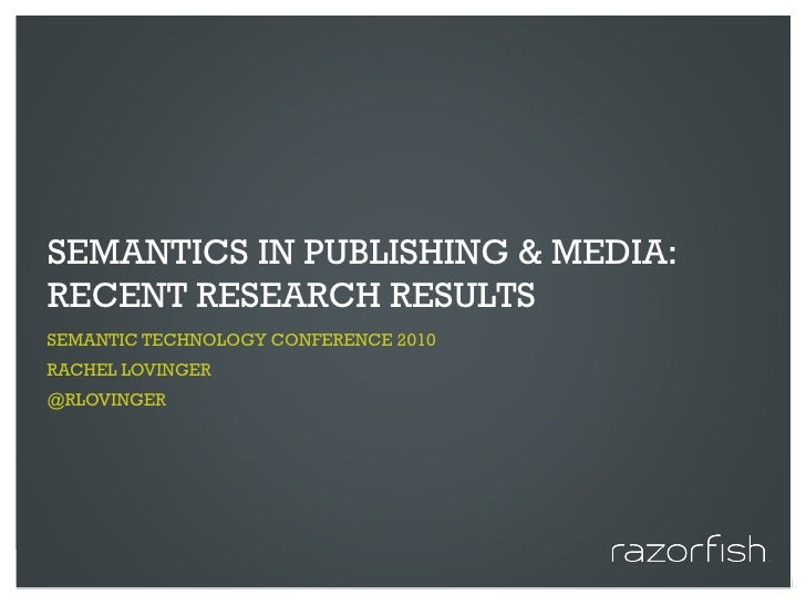 Semantics in Publishing & Media