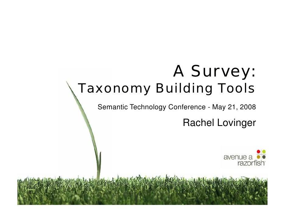 A Survey: Taxonomy Building Tools