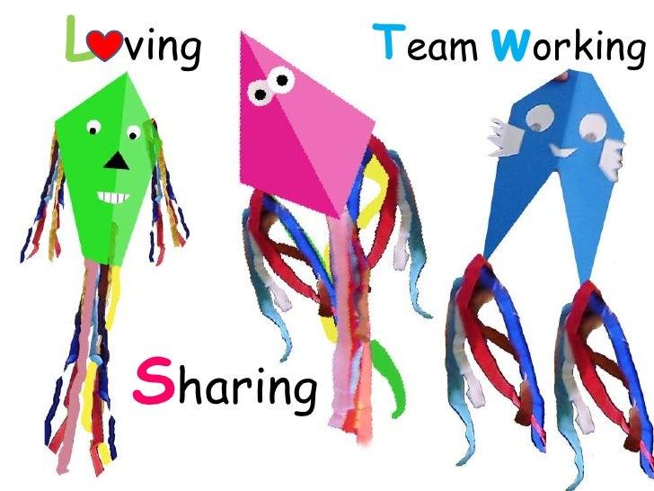 L ving<br />Team working<br />Sharing<br />