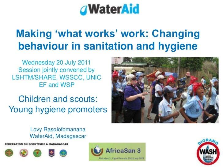 AfricaSan 2011, Rwanda: Behaviour change session - Lovy Rasolofomanana, WaterAid Madagascar