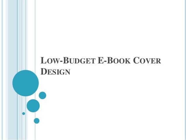 Low budget e-book cover design
