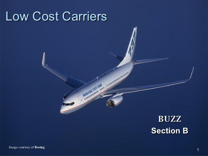 Low Cost Carriers BUZZ Section B Image courtesy of  Boeing