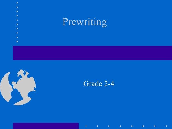 Prewriting Grade 2-4