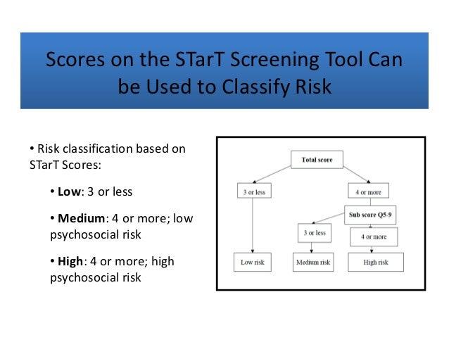 keele start back screening tool pdf