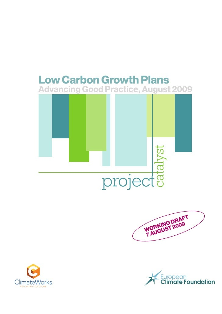 Low Carbon Growth Plans Advancin G Good Practice