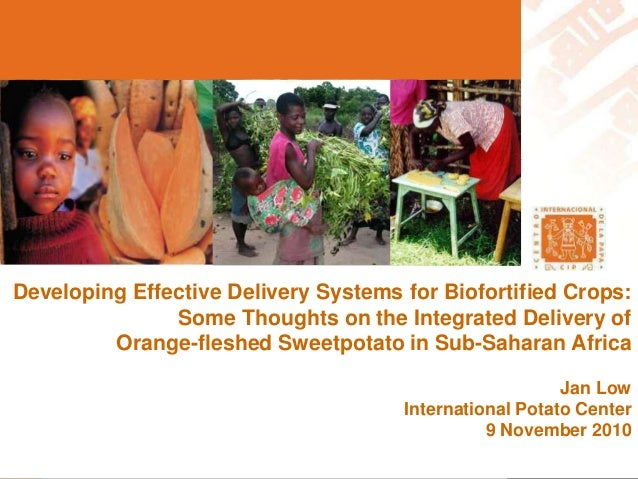Developing Effective Delivery Systems for Biofortified Crops: Some Thoughts on the Integrated Delivery of Orange-fleshed S...